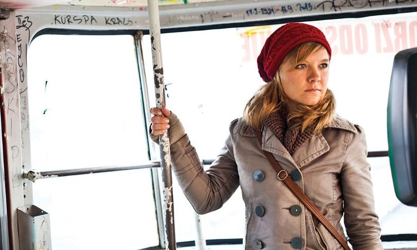 Natalie Bullock rides public transit in Bosnia