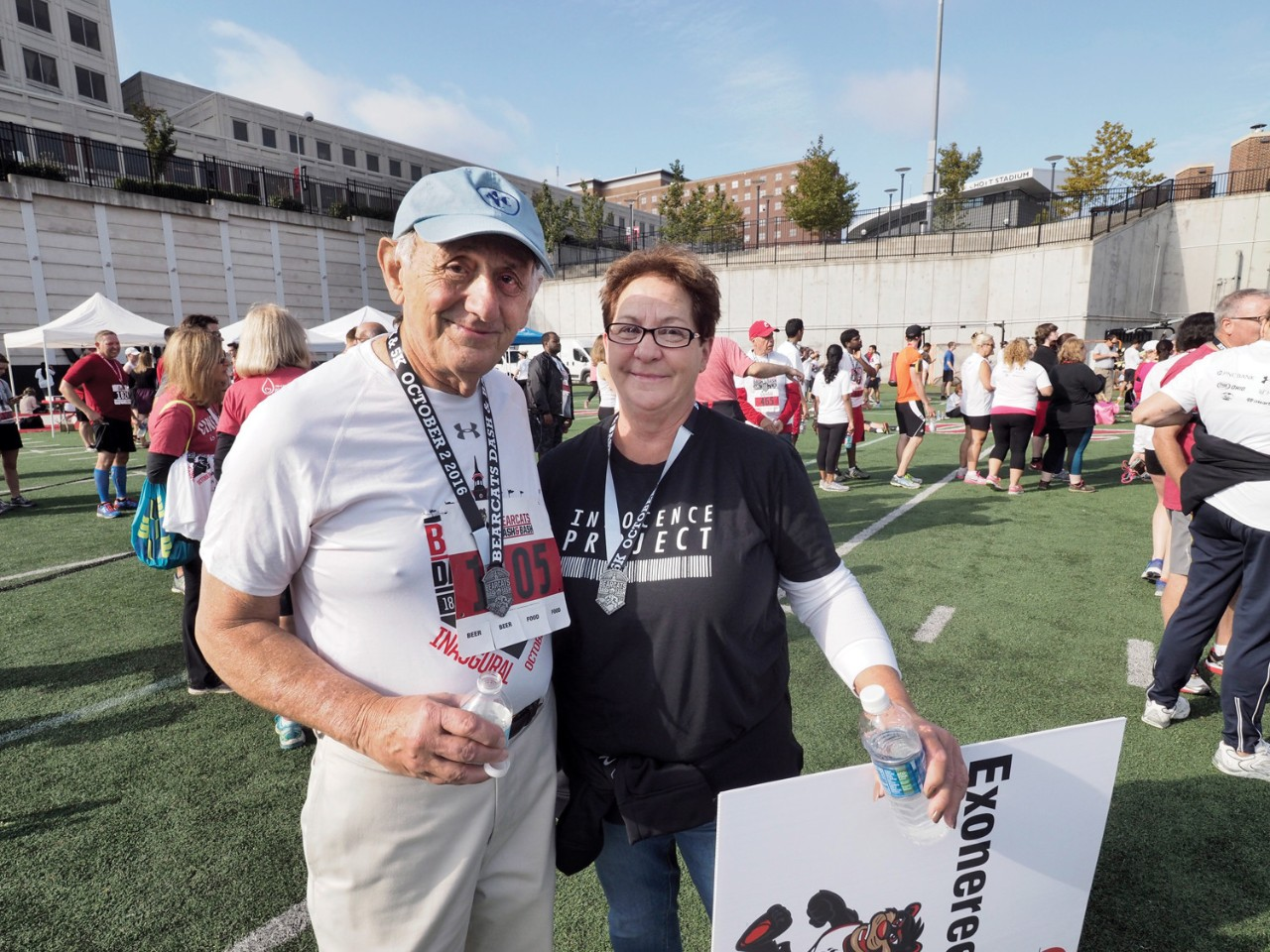 Dick Rosenthal with Nancy Smith at the 2016 Dash & Bash