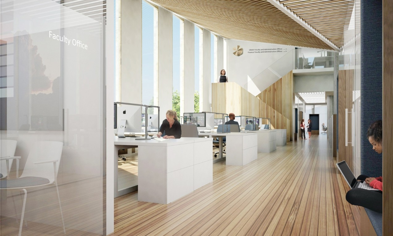 Interior Rendering Of Business School