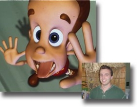 Jimmy Neutron and director Mike Gasaway