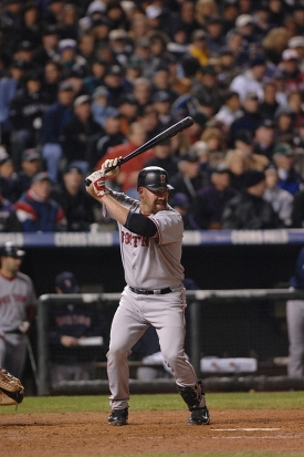 UC alum Kevin Youkilis set many of UC's current batting records while a Bearcat.  photo/Phoebe Sexton/Boston Red Sox