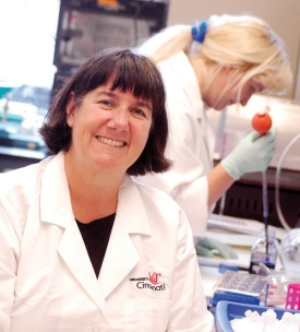 Sandra Degen, UC's vice president for research and professor of pediatrics