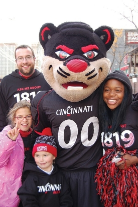UC volunteers with the Bearcat