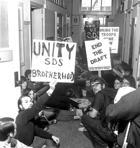 Campus protest in the 70s