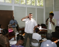 Frank Wray was in Haiti helping Cadet train teachers.