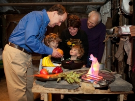 Wendell Mettey with volunteers Laurie and Bill Hyatt and their grandsons Caden (5 years old) and Gavin (3 years old).