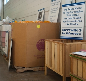 Matthew 25:Ministries uses all the wood from shipping pallets for cribs and furniture.