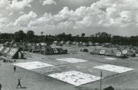 Tents being set up to create the 25th General Hospital in 1945 in Lison.