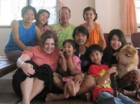 Schulkers with her Thai family