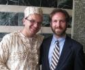 Rosenberg with Matt Arnold (Liberian attire), Ed '07.