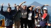 Alumni volunteers across Lake Atitlán, Guatemala.