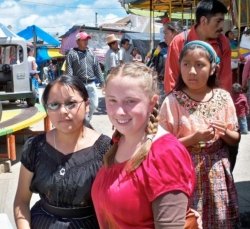 DAAP student Mona Almobayyed served in Guatemala, where she helped sell shampoo for a women's cooperative at the Tecpan fair.
