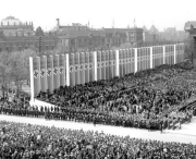 Giant crowd in the stands of the Nazi Pary Congress in Nuremberg.