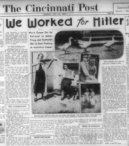 A copy of the Cincinnati Post page with another article