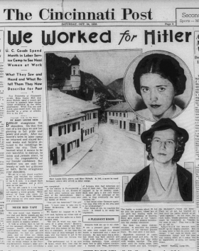 Front page of the Cincinnati Post, Oct. 24. 1936