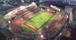 Rendering of a renovated Nippert Stadium