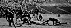 Nov. 26, 1942, Thanksgiving Day football game in action