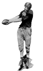 Babcock getting ready to punt. UC Yearbook photo.