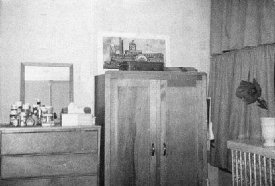 Ludlow Hall dorm room in 1966