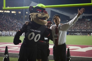 Ono is commonly seen along the sidelines at UC sporting events.