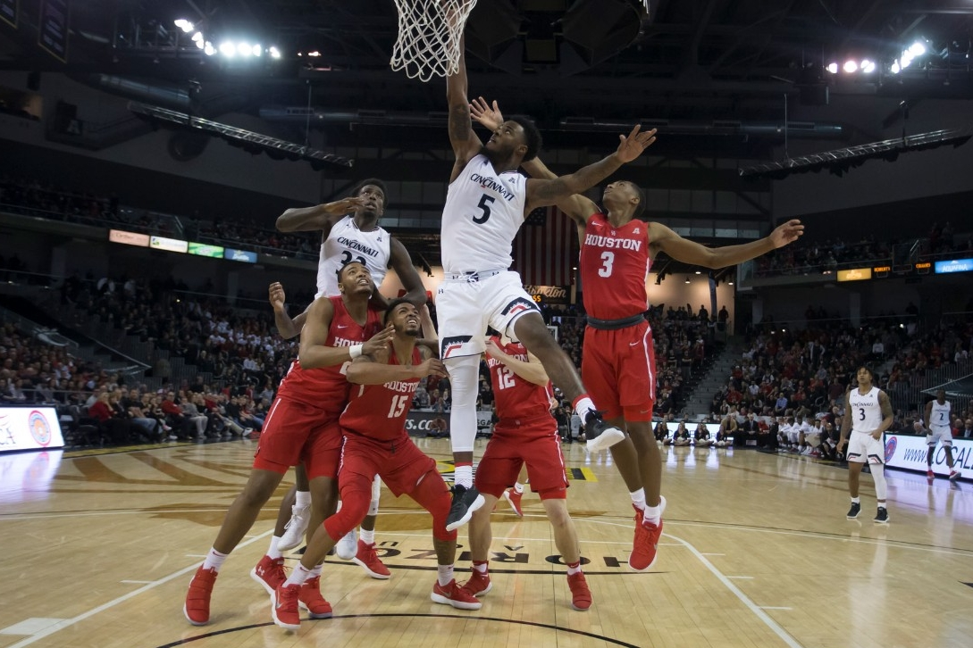 UC men's basketball competes against Houston