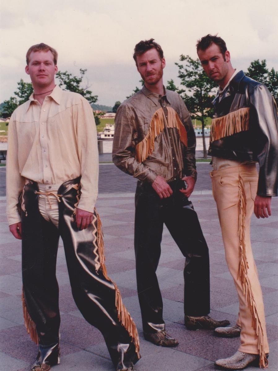 DAAP students including Matt Berninger model 90s urban cowboy fashions