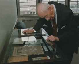 Among the many items Von Rosenstiel left in UC's care are documents and photos he collected from Germany during World War II. Background: Nuremberg Trials.