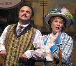 "UC grad Myers, shown with Greg Procaccino, in the title role of CCM's ""Hello, Dolly"" last summer."