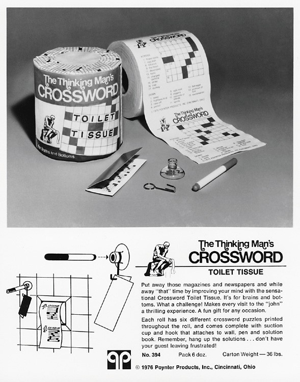 """The Thinking Man's Crossword Toilet Tissue"""