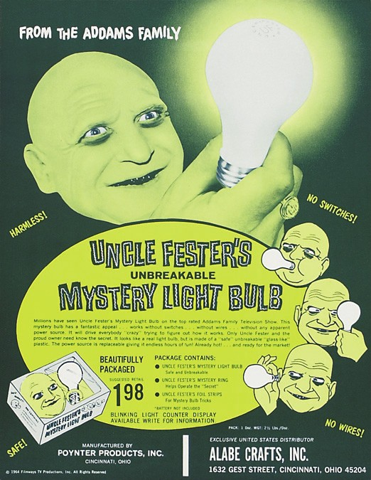 Another Poynter design: Uncle Fester's light bulb