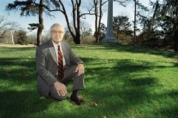 For three decades two things have remained constant at Spring Grove Cemetery and Arboretum in Cincinnati: rolling velvet lawns and UC alum Tom Smith. photo/Lisa Ventre