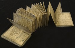 An accordion-style book from Sumatra