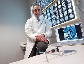 Philip Theodosopoulos, the UC Brain Tumor Center's director of skull-base surgery