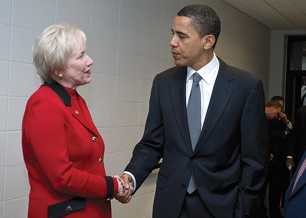Nancy Zimpher and President Obama