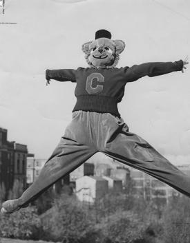 Bearcat mascot, 1950s