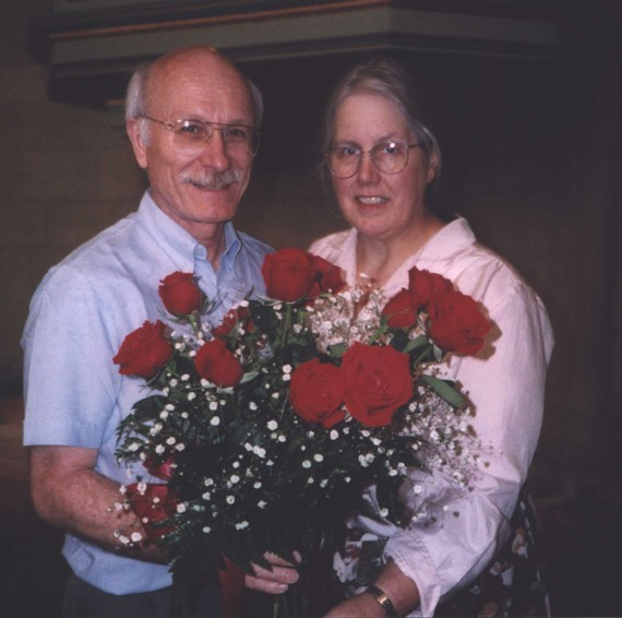 A 36th wedding anniversary photo of John and Christa Brombaugh