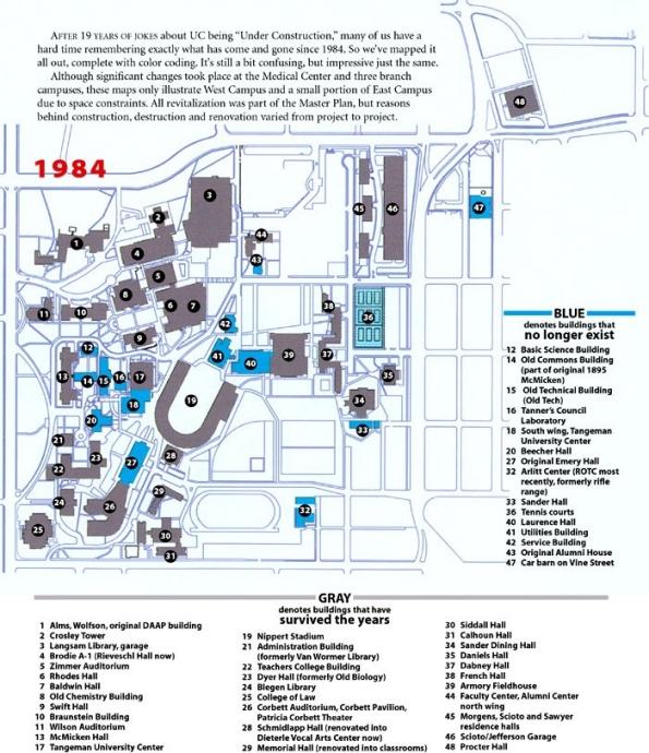 1984 campus map