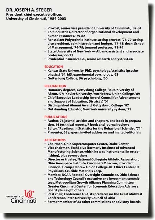 Steger's resume