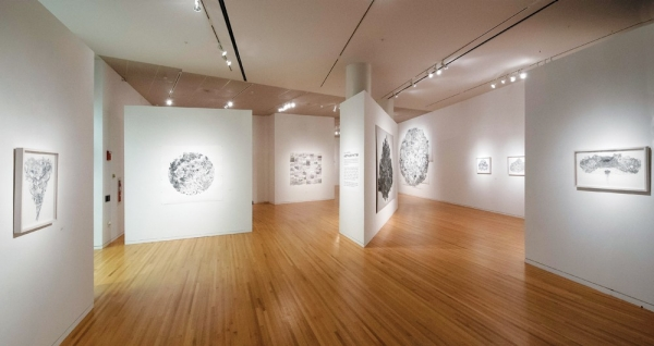 This art gallery is light, bright and airy. The Dorothy and Lawson Reed Junior Gallery is in DAAP.
