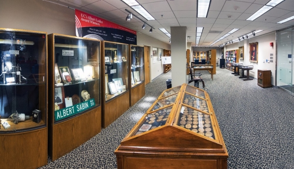 The Henry Winkler Center for the History of the Health Professions (named for a former UC president) contains an extensive archive of 42,000 books, photographs and medical artifacts.