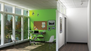 And, how an office might appear with SmartLight on.