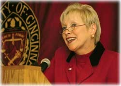 UC President Nancy Zimpher