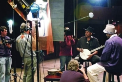 PBS in action at CCM, interviewing the legendary blues musician Taj Mahal. photo/Lisa Ventre