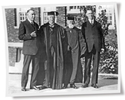 William Howard Taft with his three brothers.