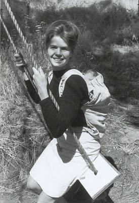 Ann Moore created the original Snugli baby carrier
