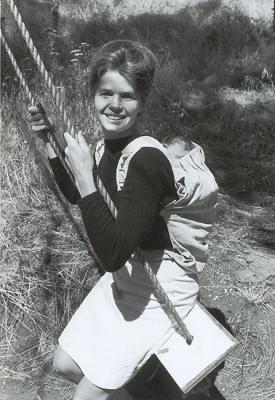 Ann Moore created the original Snugli baby carrier