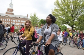 Students ride new bikes