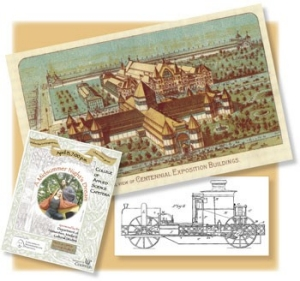 At OMI's Annual Fair in 1854, the public got its first glimpse of the steam-powered fire engine invented by OMI faculty member Alexander Latta. By 1878, OMI had partnered with the city and hosted exhibitions in Music Hall, which had been constructed partially to accommodate the events, a precursor to what we now call a World's Fair. Totally housing the Centennial Exposition in 1888 required erecting a complex of temporary buildings in front of Music Hall, on the grounds now known as Washington Park, and another building that stretched from 12th to 15th streets, over a canal (at top edge of postcard). Still promoting community involvement today, the UC college presented a free, professional Shakespeare production in April, as it does every spring.