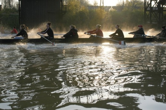 Riding along with UC rowers