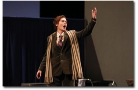 """Carolyn Kahl (MM '03) made her Seattle Opera mainstage debut as """"the Composer"""" in February 2004."""